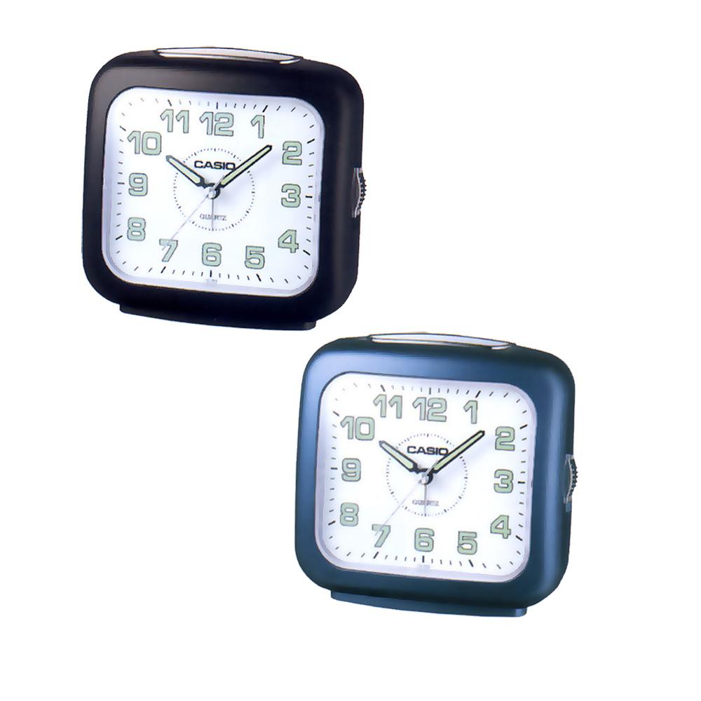 CASIO 圓滑弧線指針鬧鐘(黑、藍)