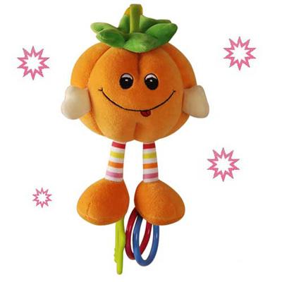 澳洲 baby bow-小南瓜玩偶固齒器(橘)