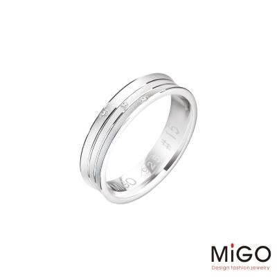 MiGO 愛的圍繞純銀男戒指