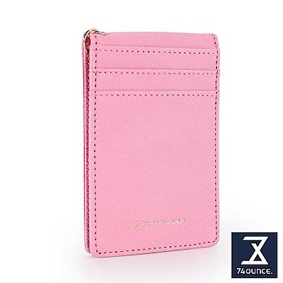 74盎司 十字紋鏡面設計票卡套[LN-724]粉紅