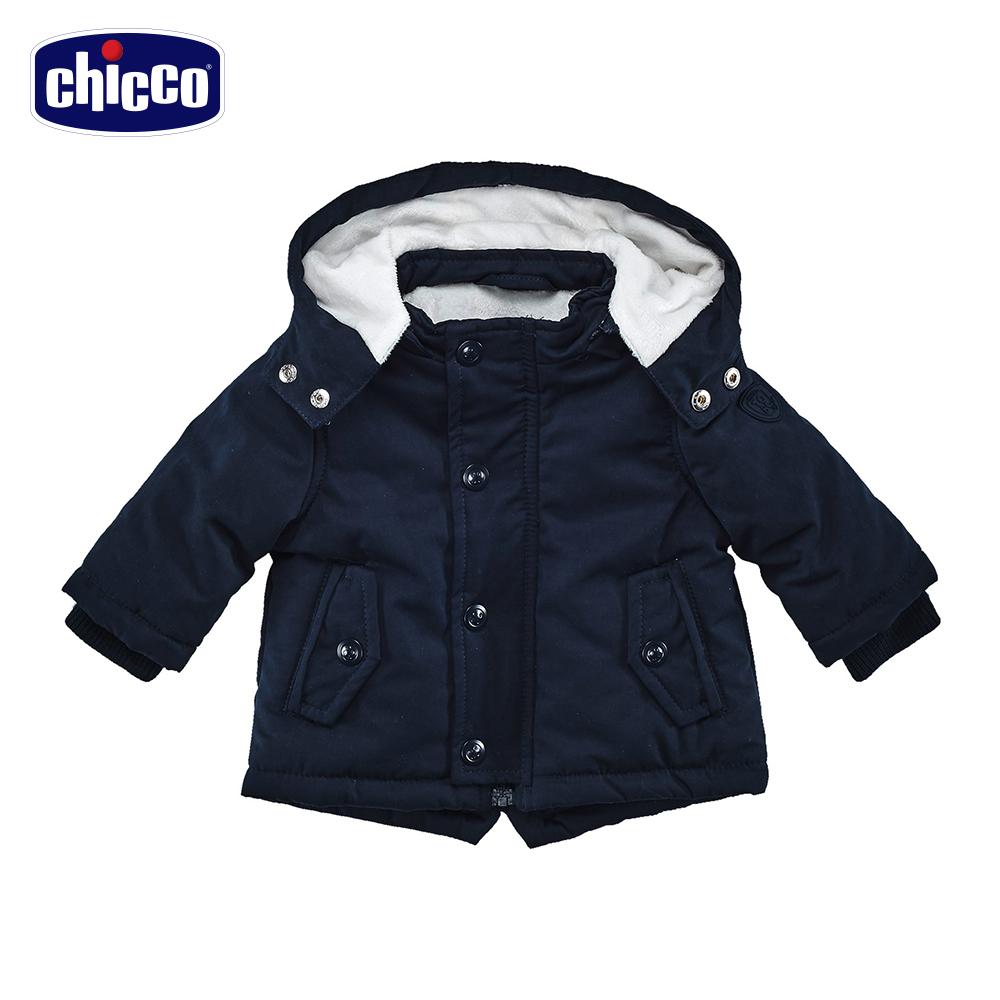 chicco舖棉連帽外套-青(12個月-18個月)