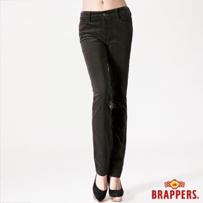 BRAPPERS 女款 新美腳Royal系列-中腰彈性鑲鑽窄管褲-墨綠