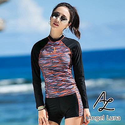 【AngelLuna】撞色兩件式水母衣泳裝(日本直送3-10天到貨)