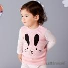Little moni 純棉家居系列動物印圖上衣 粉紅