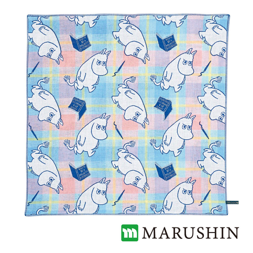 日本丸真Moomin今治三層紗布方巾-研究中的嚕嚕米