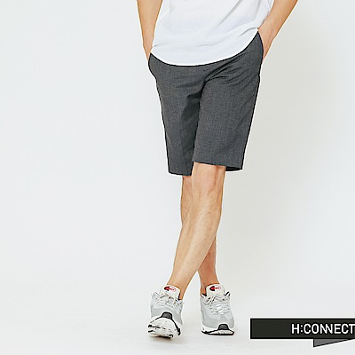 H:CONNECT 韓國品牌 男裝-微鬆緊混色短褲-藍