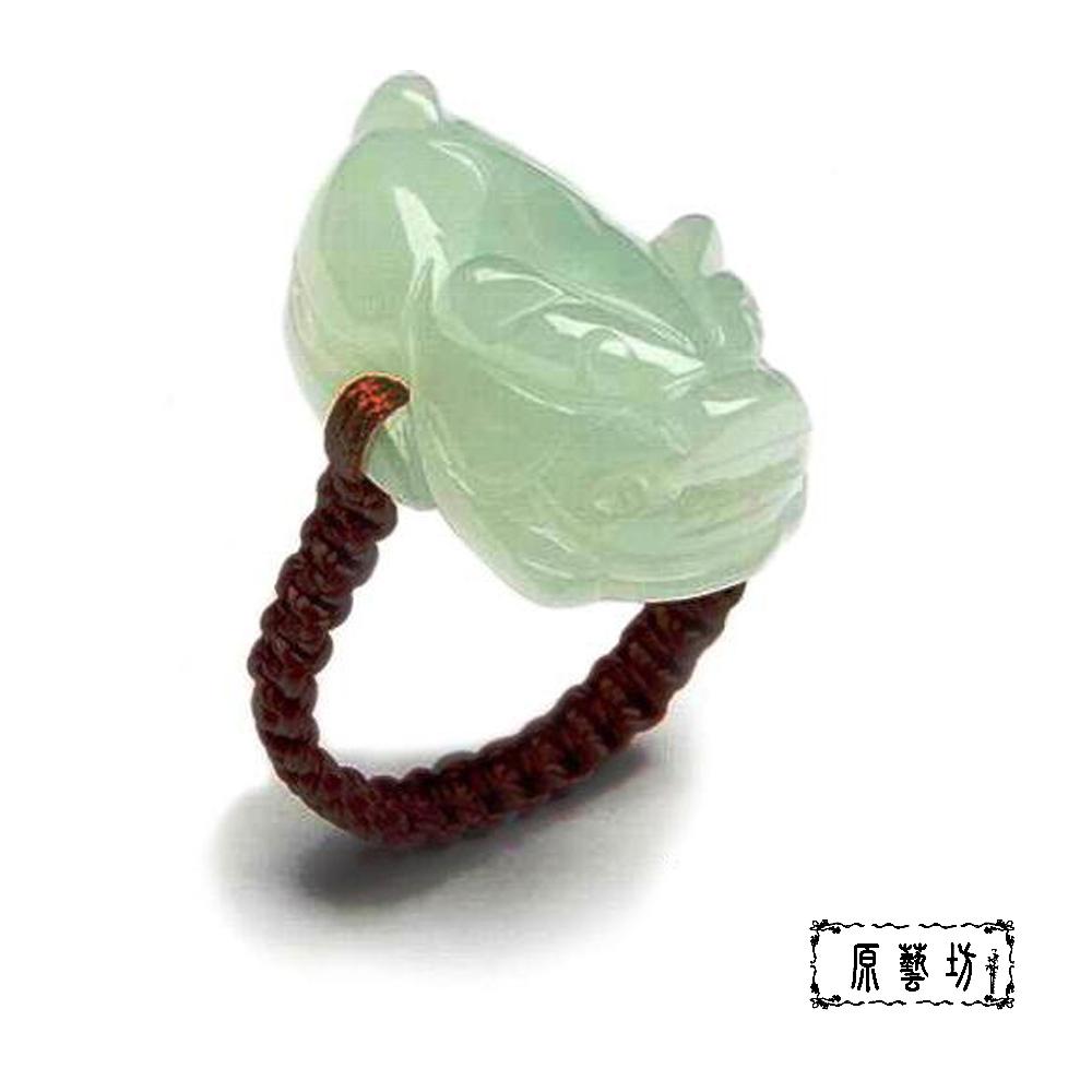 【原藝坊】天然翡翠玉雕貔貅戒指