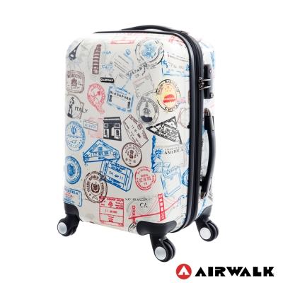 AIRWALK LUGGAGE - 精彩歷程 環郵世界行李箱20吋 - 各地米白