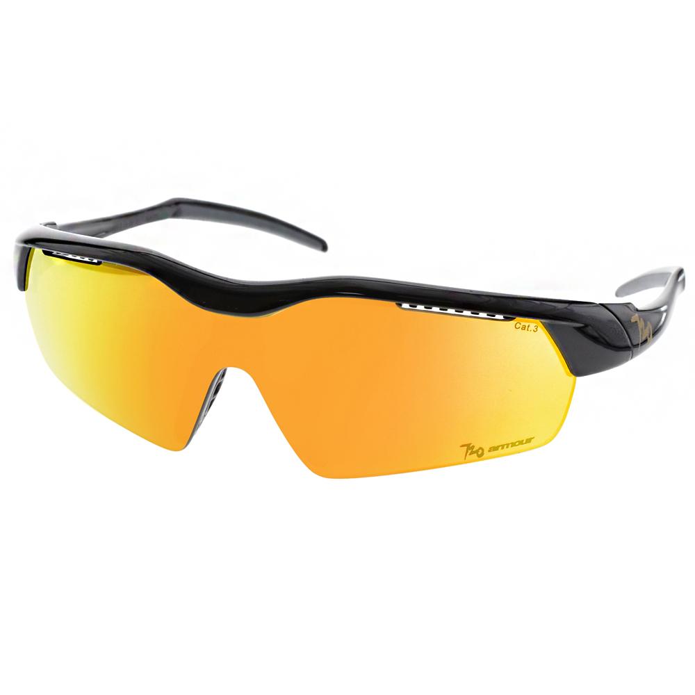 720運動太陽眼鏡 輕盈小巧系列/黑-黃水銀#720B325 C14
