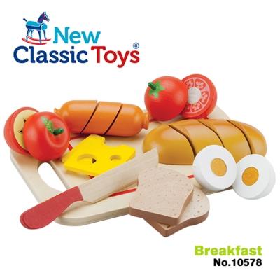 【荷蘭New Classic Toys】輕食早餐切切樂10件組10578