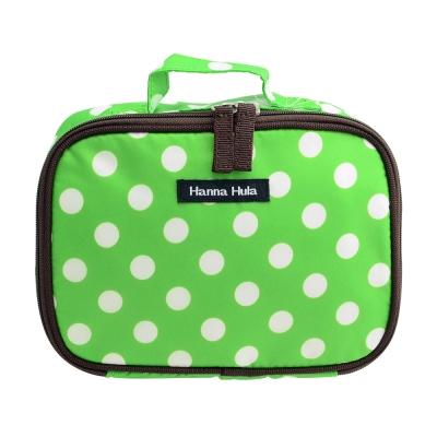 日本Hanna Hula-多用途隨身包-可裝衣物/尿片(圓點綠)