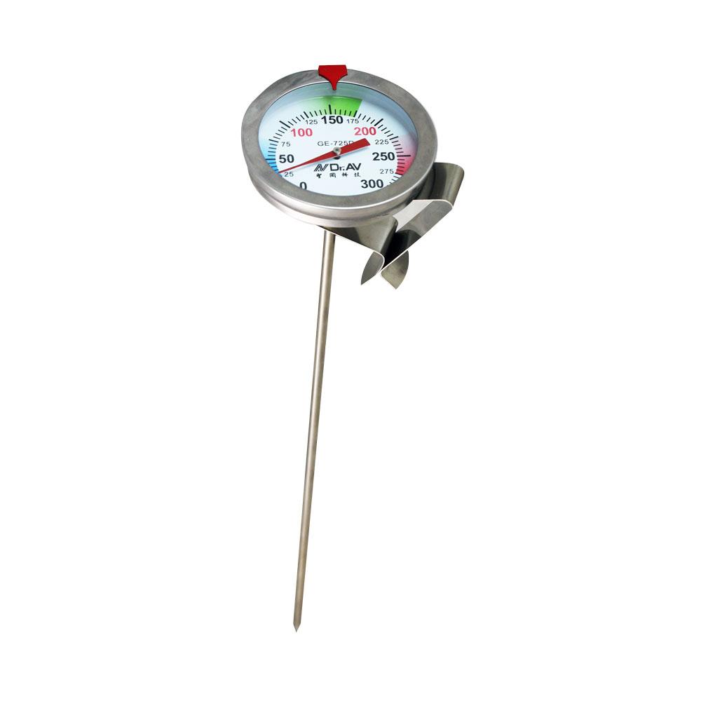 GE-725D 加長型多用途不鏽鋼溫度計  耐高溫0~300度