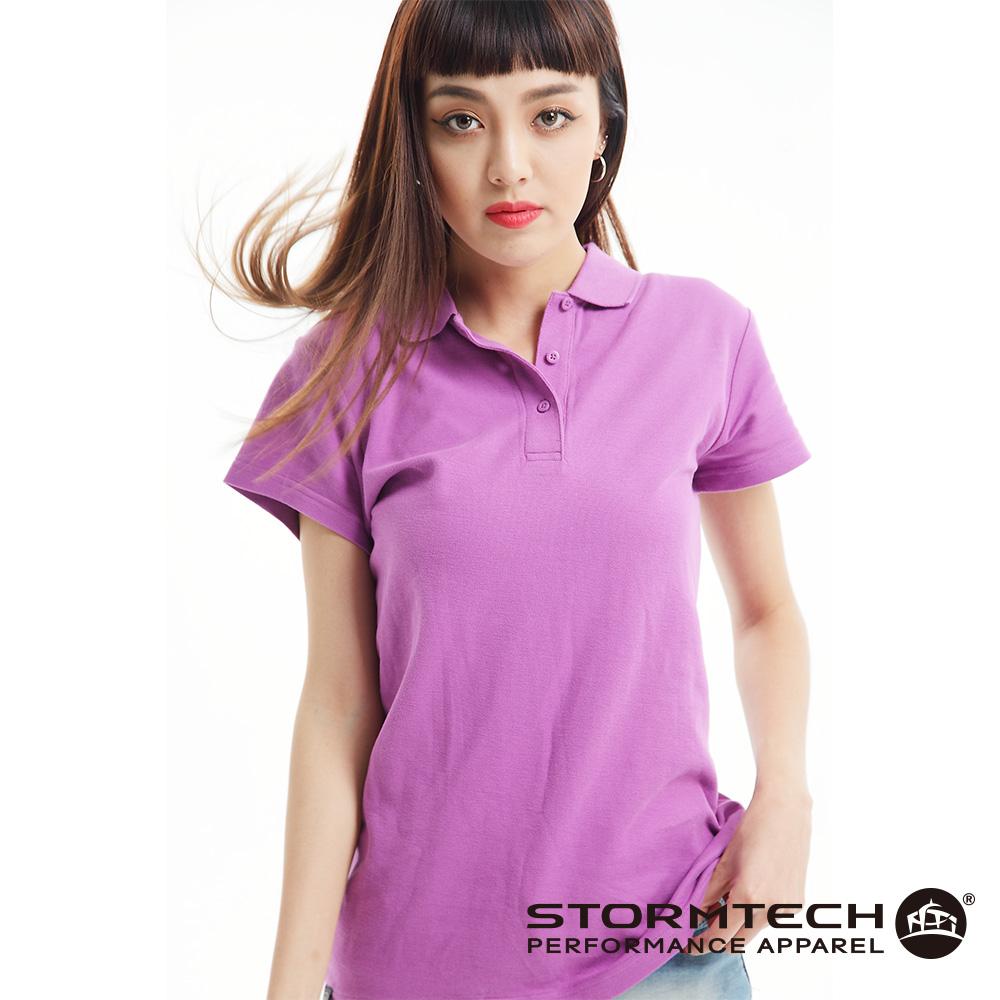 【加拿大STORMTECH】MCP-1W純棉網眼極舒適抗UVPOLO衫-女(紫丁香)