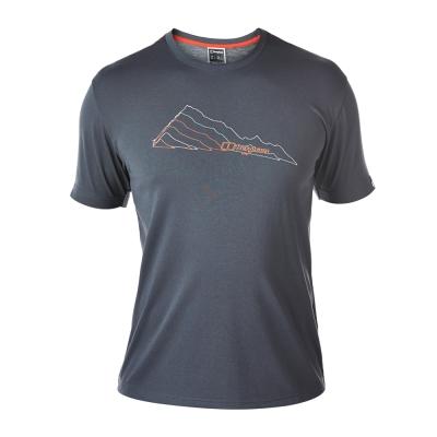 【Berghaus 貝豪斯】男款銀離子圖案T恤S04M08-深灰