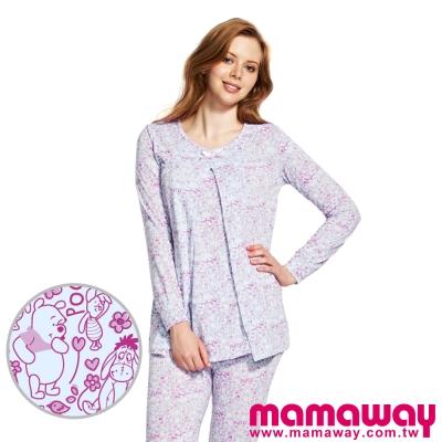 Mamaway-迪士尼小熊維尼孕哺居家服組-長袖