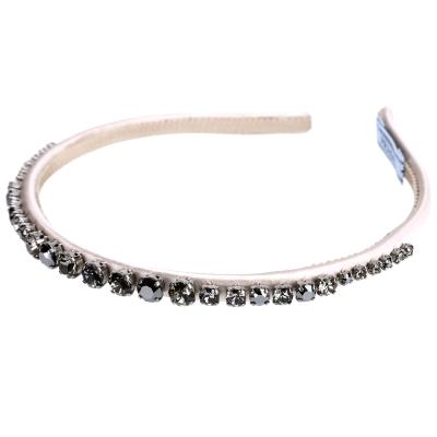 PRADA 水晶鑲嵌髮箍/髮圈(香檳粉)