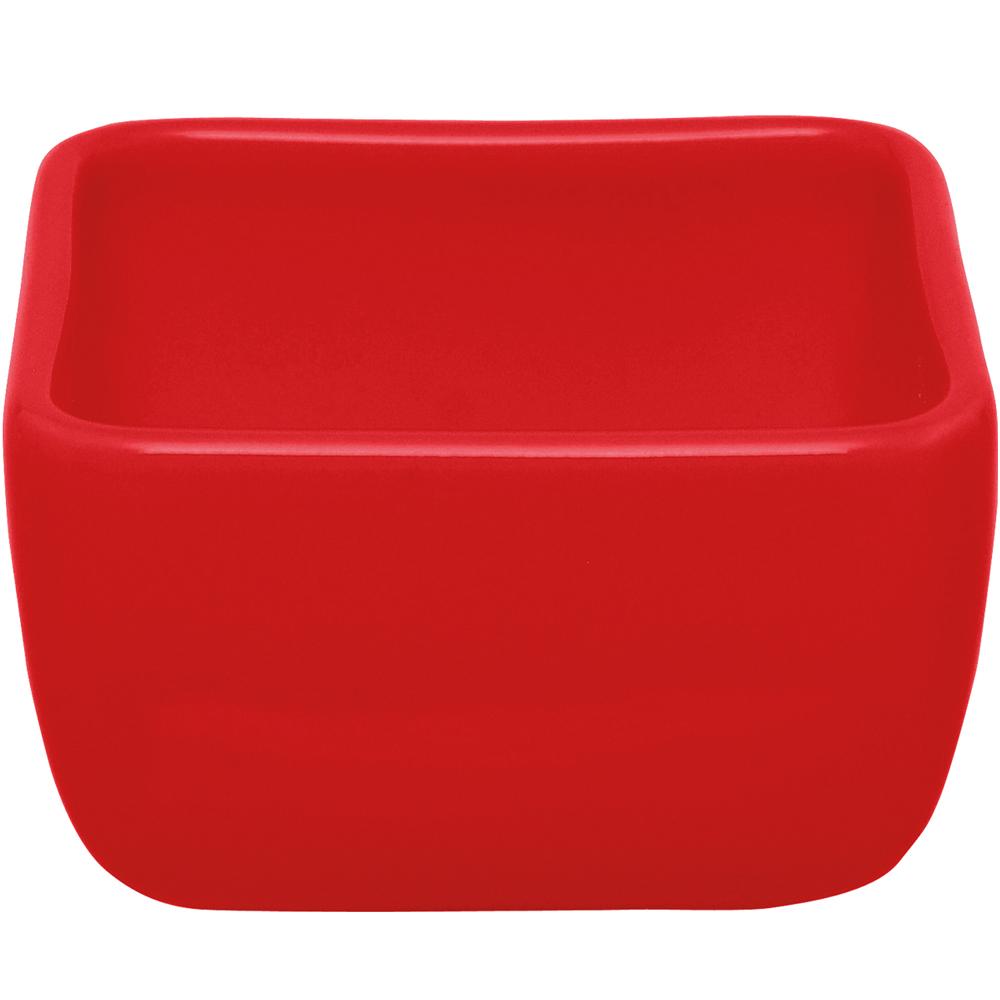 EXCELSA Trendy方型點心碗(紅9cm)