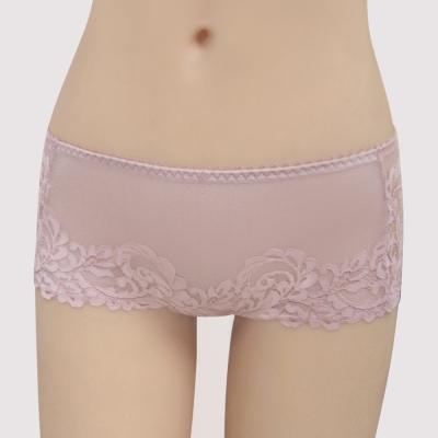 曼黛瑪璉 包覆提托 雙弧  低腰平口無痕內褲(花妍粉)