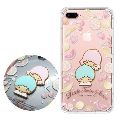 正版授權 雙子星 iPhone 7 Plus 立體大頭空壓手機殼(水果雙子星)