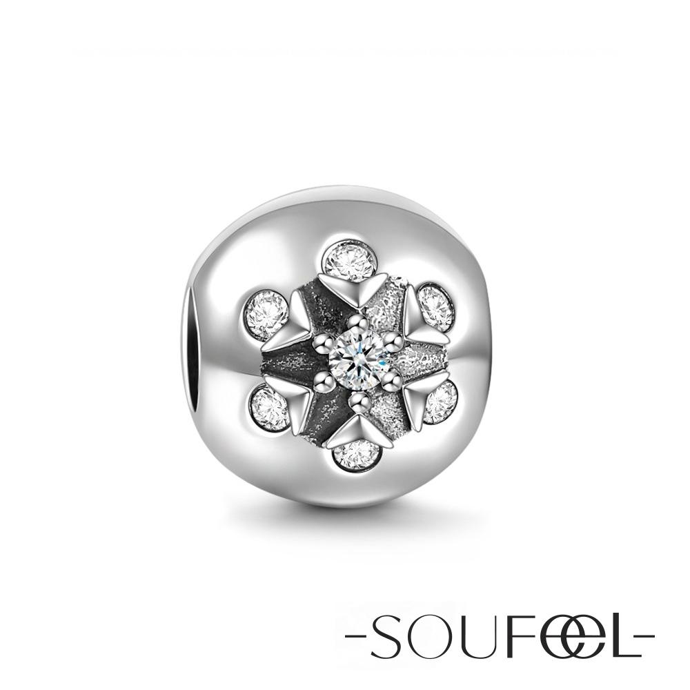 SOUFEEL索菲爾 925純銀珠飾 晶瑩雪花 串珠