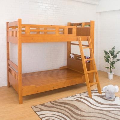 Boden-德克斯3.7尺單人實木書架雙層床架