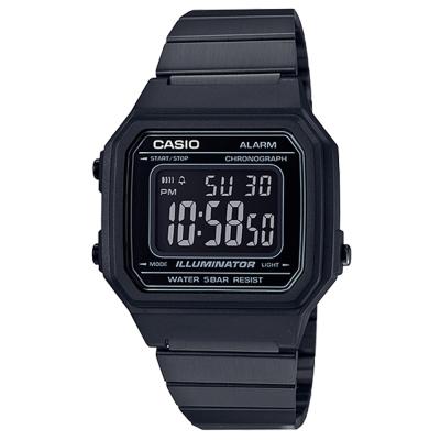 CASIO 復古文青風大型數字數位錶(B-650WB-1)黑色41.2mm