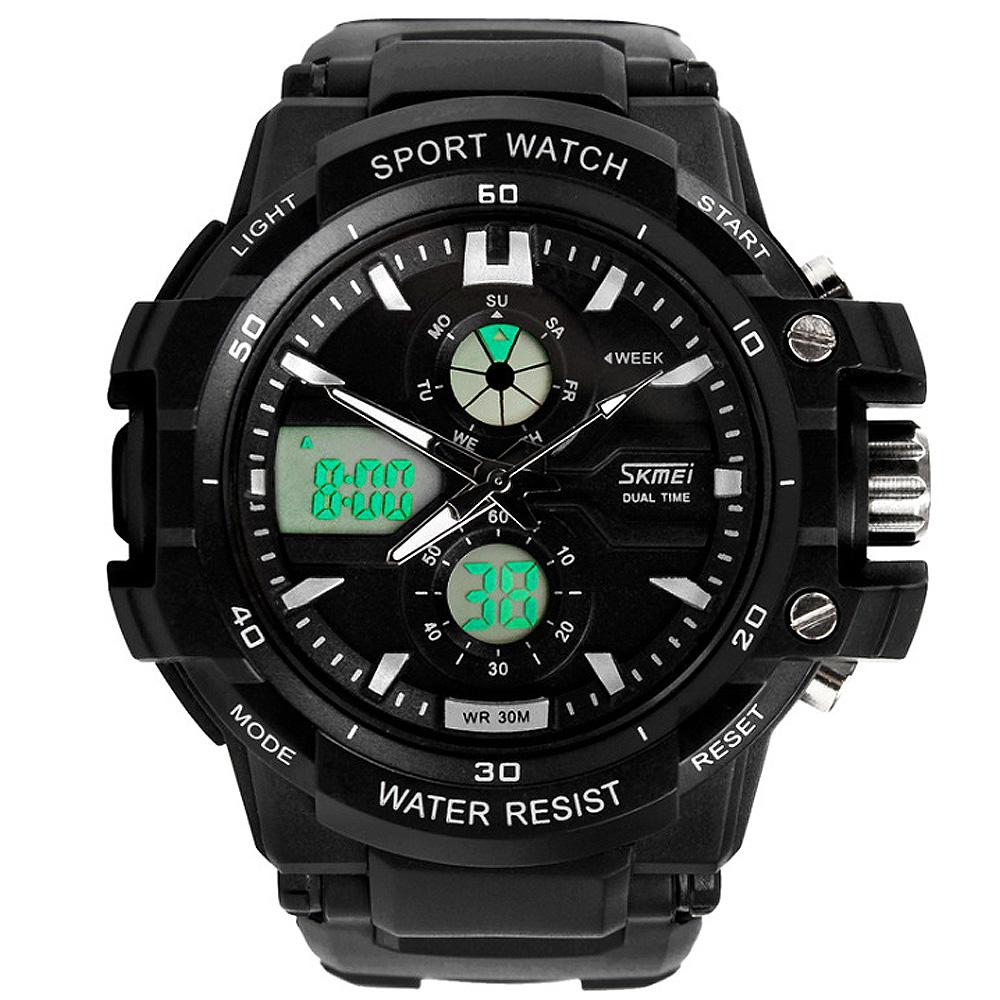 SKMEI 時刻美0990-雙機芯多功能防震防水電子錶 (2色任選)