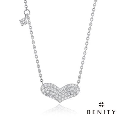 BENITY 心花怒放 愛心設計 316白鋼/西德鋼 八心八箭cz美鑽 女項鍊