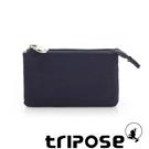 tripose 漫遊系列岩紋簡約微旅萬用零錢包 深藍
