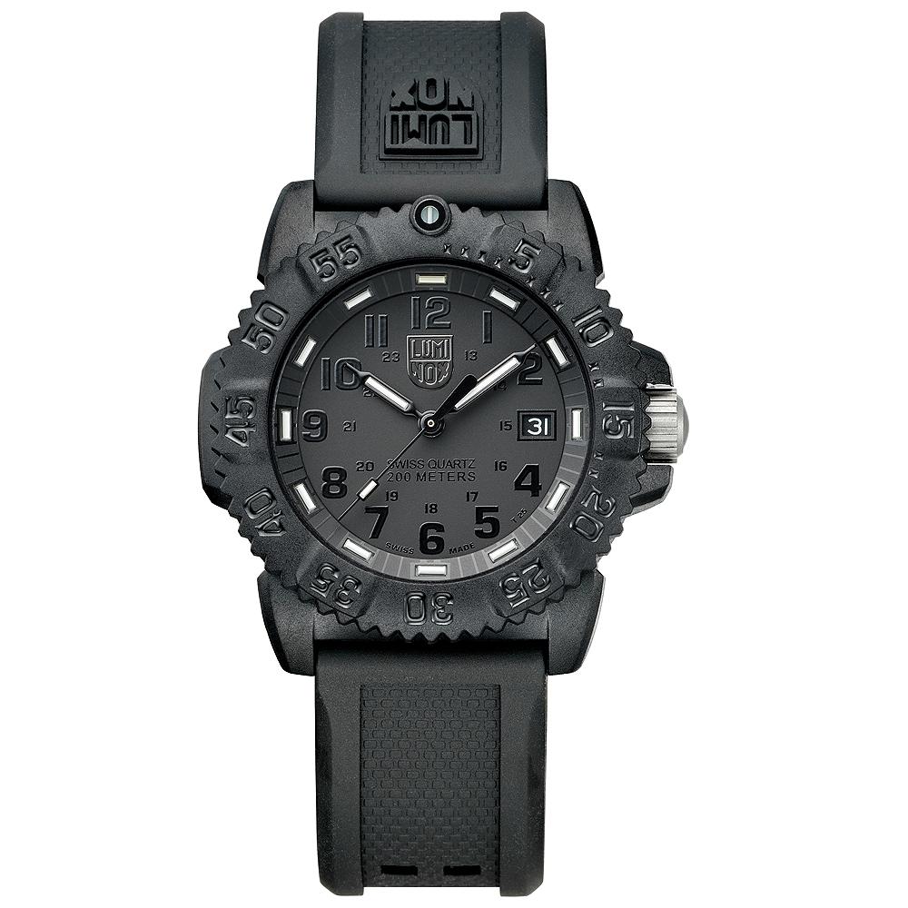Luminox 海豹部隊指標系列經典女錶-黑x黑時標/38mm