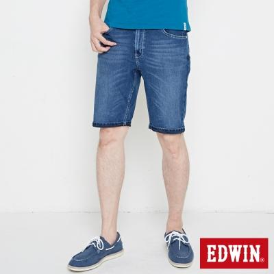 EDWIN 加大碼迦績褲 快乾合身短褲-男-石洗綠