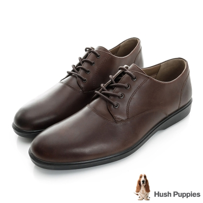 Hush Puppies Ondine 防潑水綁帶式正裝鞋-咖啡色
