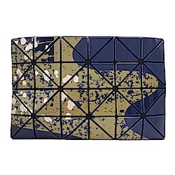 ISSEY MIYAKE三宅一生BAOBAO幾何亮面4x6傳統繪畫手拿包(海軍藍)