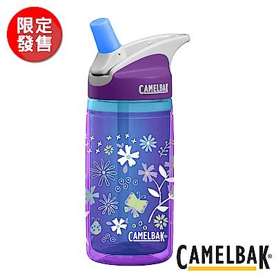 《CAMELBAK》兒童吸管雙層隔溫運動水瓶 繽紛紫花 400ml