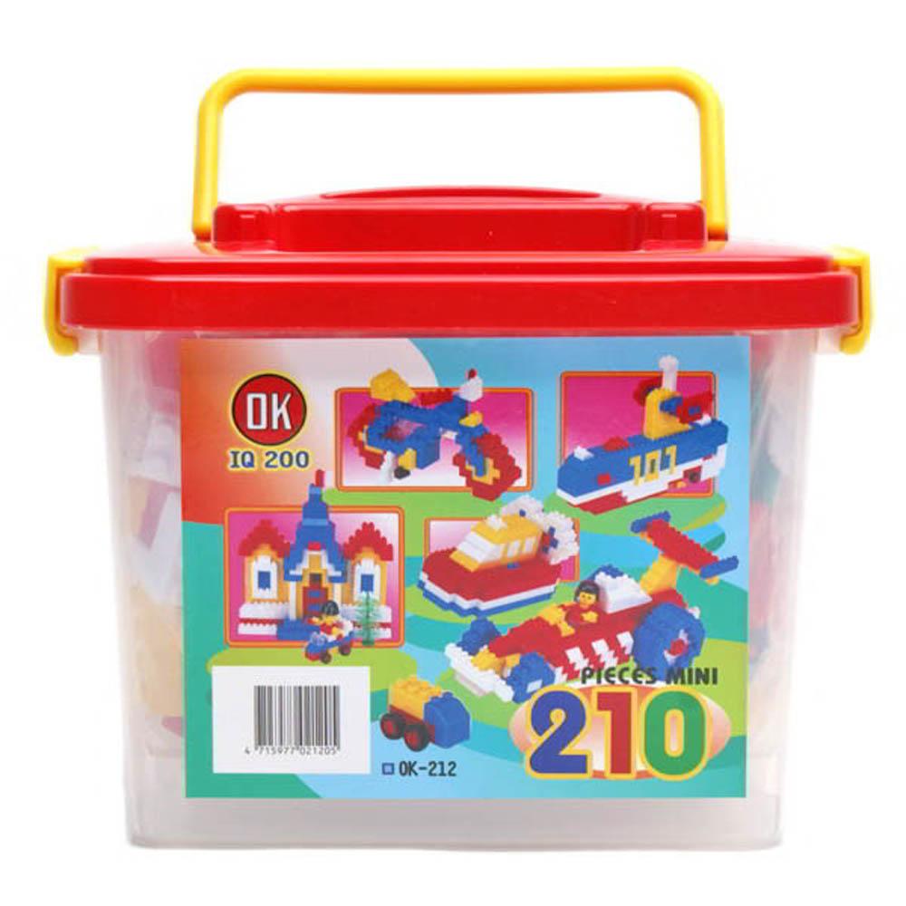 OK積木 OK我高積木OK212 基本顆粒積木210片裝(迷你提桶)