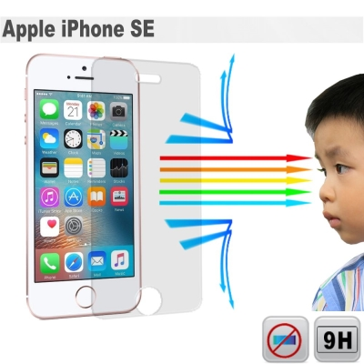 EZstick 抗藍光 Apple iPhone SE 防藍光鏡面鋼化玻璃保護貼