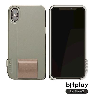 bitplay SNAP!X iPhoneX(5.8吋)專用一秒變單眼耐衝擊相機殼 淺軍綠