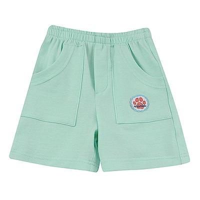 愛的世界 MYBABY 彈性鬆緊帶雙邊口袋五分褲/6M~2歲