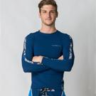 大尺碼 Sunseeker時尚男士衝浪長袖上衣-藍