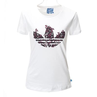 ADIDAS-女短袖上衣AJ8914-白