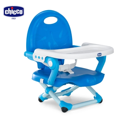 chicco-Pocket snack攜帶式輕巧餐椅座墊-鯨魚藍