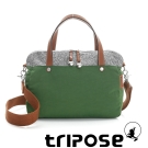 tripose 漫遊系列岩紋玩色兩用手提背包 草地綠