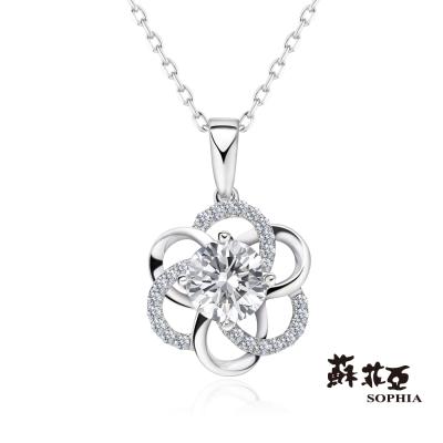 蘇菲亞 SOPHIA - 戀戀花語1.00克拉FVS2鑽石項鍊