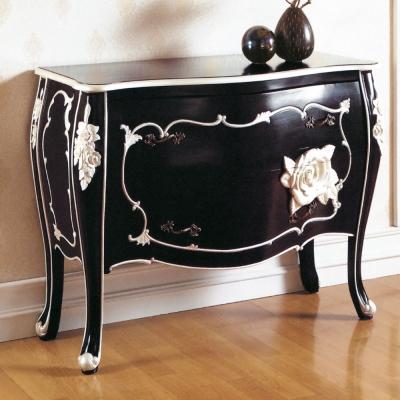 居家生活 奇拉亞法式黑銀色二斗櫃