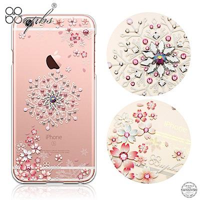 apbs iPhone6s/6 Plus 5.5吋 施華洛世奇彩鑽手機殼-櫻飛雪