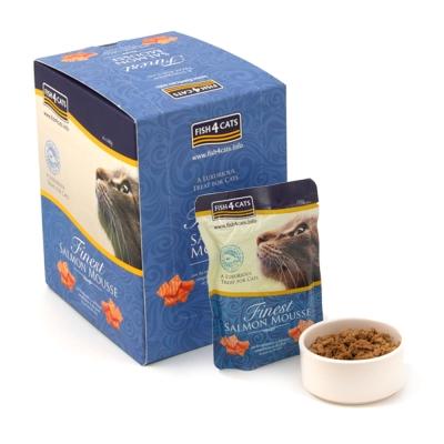 【海洋之星FISH4CATS】海藻精華鮭魚慕斯、貓用、1盒 (100g*6入)