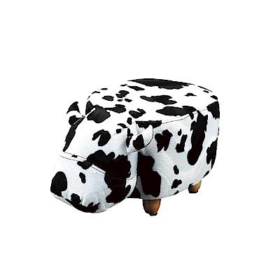 品家居 夏米皮革&亞麻布造型小椅凳(五款可選)-33x66x35cm免組