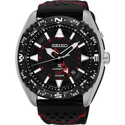 SEIKO Prospex GMT 菁英人動電能腕錶(SUN049P2)-黑/45mm