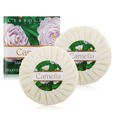 L-ERBOLARIO 蕾莉歐 山茶花香氛植物皂100gX2
