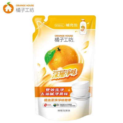 橘子工坊 深層淨味碗盤洗滌液補充包500ml